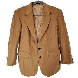 Savile Row Wool Camel Blazer 42 Short